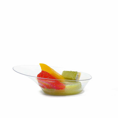 24 Pack Clear 1oz Plastic Nifty Oval Disposable Dessert Bowl