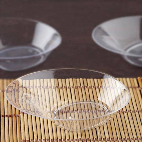 Plastic Nifty Oval Disposable Dessert Bowl - Clear - 24 Pack - 1oz