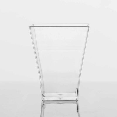 24 Pack Clear 2oz Super Chic Plastic Squared Disposable Shot Glass