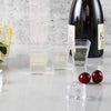 24 Pack Clear 2oz Super Chic Squared Disposable Plastic Shot Glasses