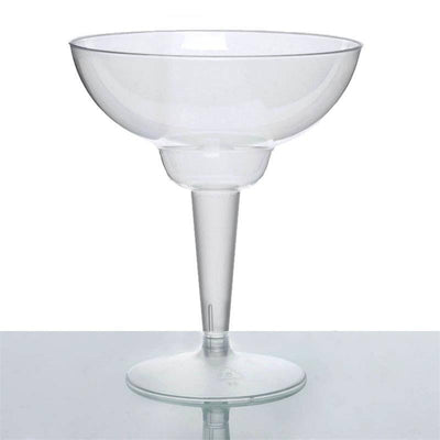 10 Pack - Clear 12oz Disposable Margarita Glass - Crystal Collection