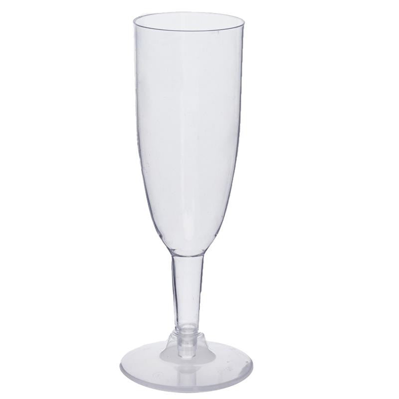 12 Pack - Clear 6oz Imperial Collection Disposable Champagne Glass