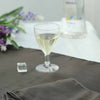 12 Pack 6oz Clear Hollow Stem Plastic Disposable Wine Glass