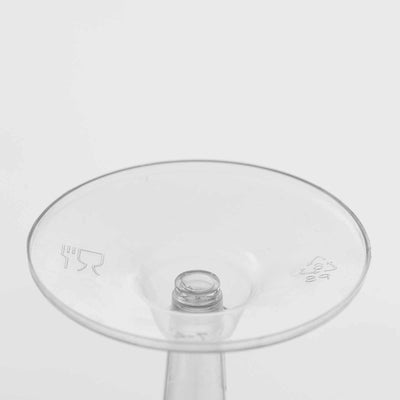 12 Pack Clear 6oz Classic Hollow Stem Plastic Disposable Wine Glass