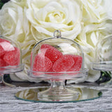 "2.75x2x3"" Wholesale Mini Clear Plastic Cupcake Muffin Cake Container Oval Stand - 12 PCS"