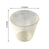 12 Pack 9oz Gold Plastic Disposable Glittered Glass Cups