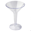 12 Pack - Clear 5oz Disposable Martini Glass - Crystal Collection