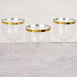 6 Pack 25oz Gold Rimmed Clear Plastic Disposable Champagne Glass