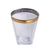 12 Pack Gold Rimmed 2oz Chambury Plastic Disposable Shot Glass For Wedding Party Event Dinnerware