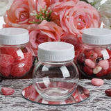 12 Pack 6oz Clear Plastic Candy Beverage Disposable Favor Jar With White Cap