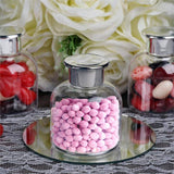 Set of 12 | 6 Oz Plastic Candy Jars Favor Container With Silver Lid