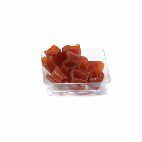 "50 Pack 2"" Clear Disposable Square Mini Salad Dessert Plates"