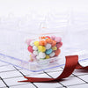 20 Pack - Clear 3oz Stylish Disposable Dessert Cup w/ Lid and Serving Tray