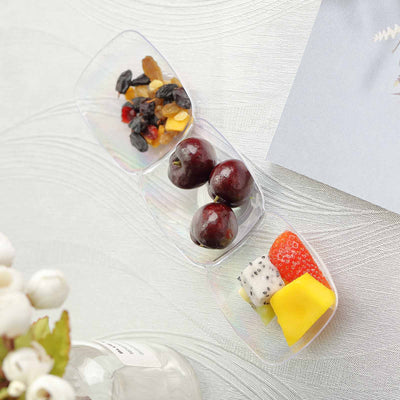 "12 Pack 9"" Clear Disposable Trio Mini Tasting Salad Dessert Bowls"