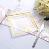 Disposable Plastic Salad Plates, Square Dessert Plates, Heavy Duty Plastic Plates