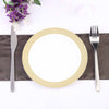 Dessert Plates With Gold Diamond Rim, Salad Plate, Plastic Dinnerware