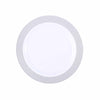 "10 Pack 9"" White Round Disposable Plastic Dinner Plates With Silver Diamond Rim"