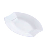 "10 Pack 6"" Clear Disposable Oval Crescent Rim Salad Dessert Plates"