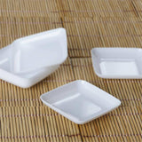 24 Pack - White Mini Disposable Dessert Plate - Partytown Plastics