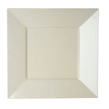 "10 Pack 10"" Ivory Disposable Square Dinner Plates"