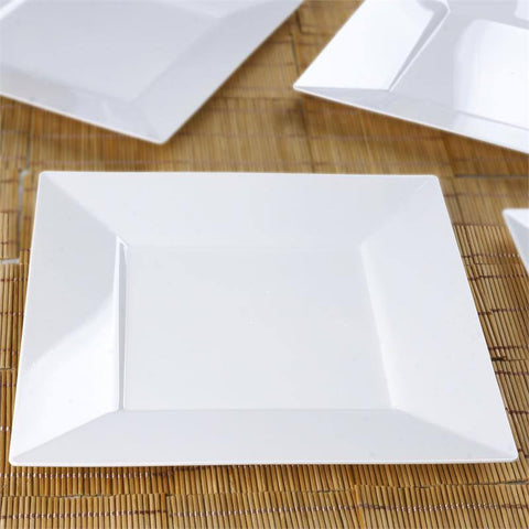 "10 Pack - White 10.75"" Square Disposable Plate - Partytown Plastics( Sold Out )"