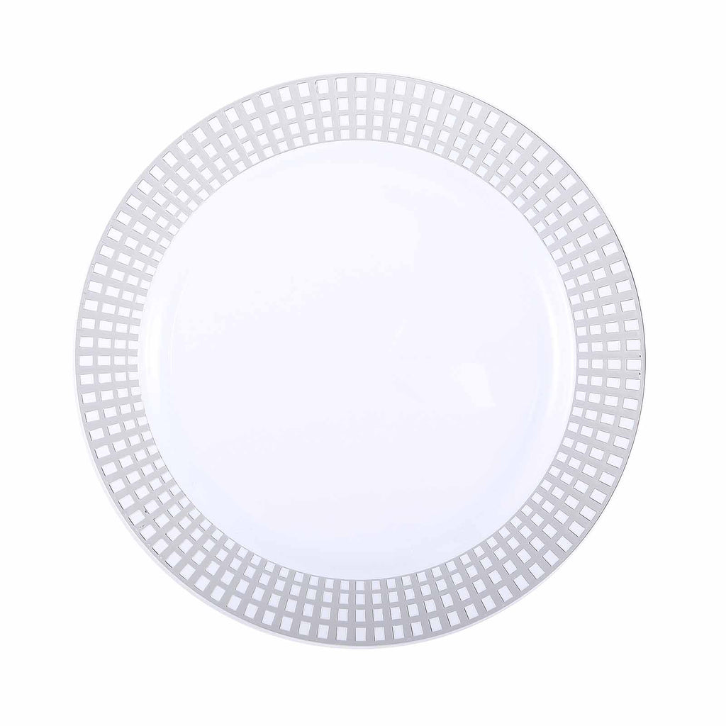 10 Pack 10 Quot White Disposable Round Dinner Plates With