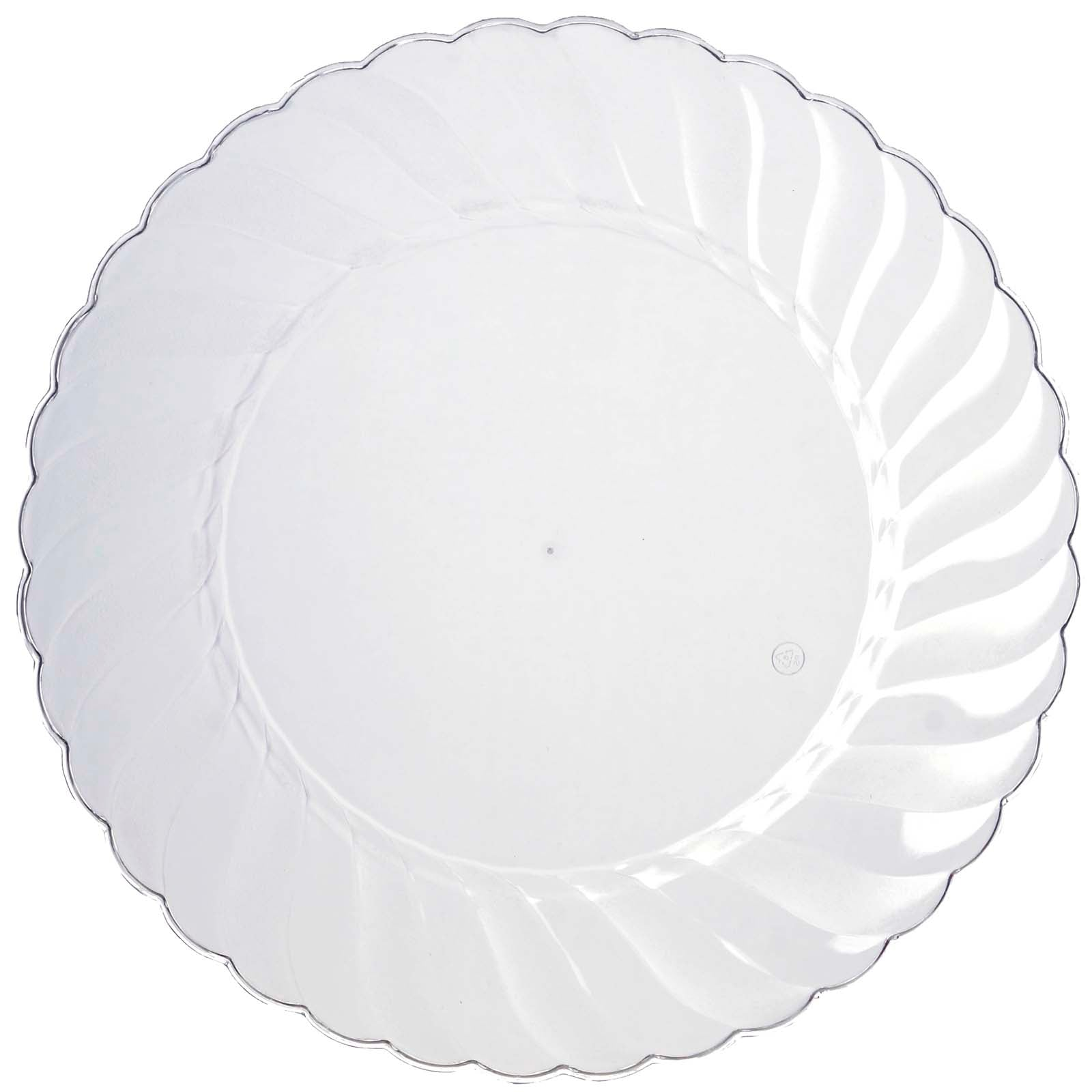 10 Pack 10  Clear Disposable Flared Round Dinner Plates  sc 1 st  eFavormart.com & 10 Pack 10