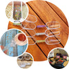 "6 Pack - 6"" Clear Plastic Scoop, Candy Scoops, Popcorn Scoop"