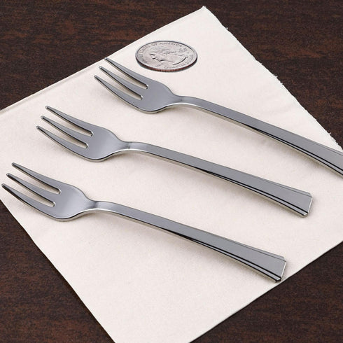 36 Pack - Silver Dessert Forks - Premiere Collection