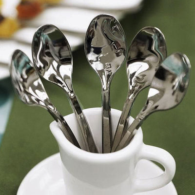 "36 Pack 4"" Silver Chambury Plastic Disposable Dessert Coffee Spoons"