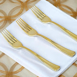 24 Pack of Metallic Gold Disposable Dinner Cutlery Set