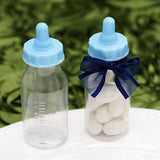 Blue Fillable Feeding Bottle Baby Shower Birthday Party Favors Gift - 12/pk