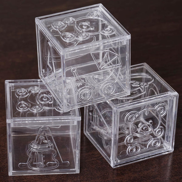 12 Pack 2 Quot Clear Fillable Baby Blocks Efavormart