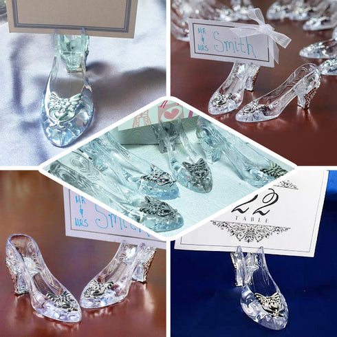 12 Pack Silver Cinderella Slipper
