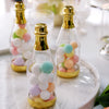 12 Pack | 6 inch Metallic Gold Mini Champagne Bottles, Wedding Favor Containers