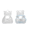 12 Pack | 3 inch Blue Teddy Bear Favor Candy Containers, Baby Shower Favors