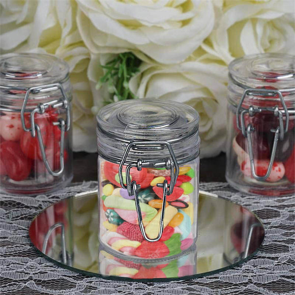 Set of 12 | 2 Oz Plastic Candy Jars Favor Container With Flip Lid