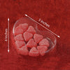 "25 Pack Plastic Clear Heart Favor Candy Boxes - 5"" x 4"" x 1"""