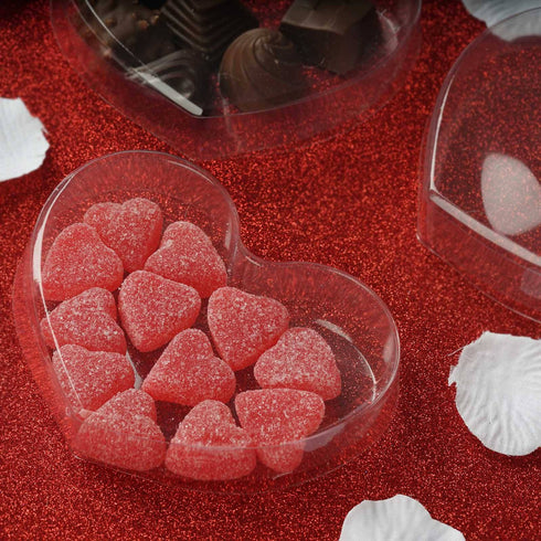 Clear Heart Shaped Favor Box - Set of 25