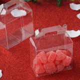 100 Pack Plastic Clear Treasure Chest Favor Candy Boxes