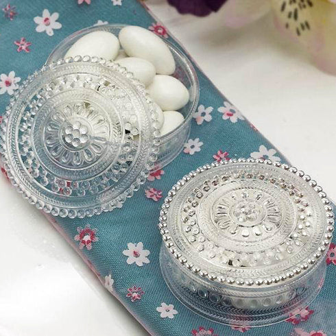 Round Carved Box -Clear -dz/pk( Sold Out )