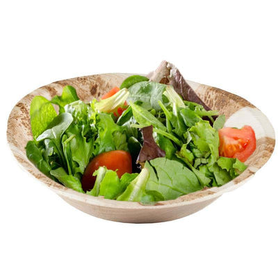 "25 Pack 7.2"" Eco-friendly Round Disposable Palm Leaf Bowl"