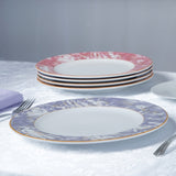 "Dishwasher Safe 11.5"" Porcelain Chip Resistant Dinner Plate - Violet - Set of 12"