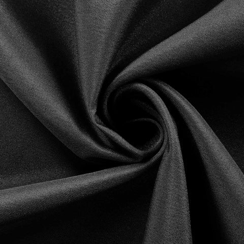 "BLACK Polyester Wedding Banquet Restaurant Wholesale Fabric Bolt By Yard - 54"" x 10 YARDS"