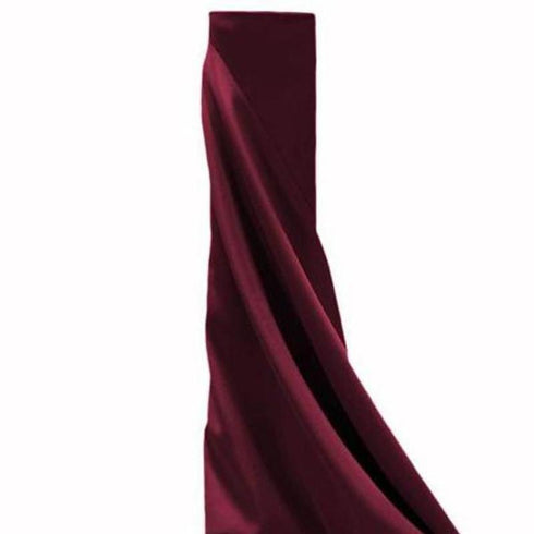 "54"" x 10 Yards Burgundy Polyester Wedding Banquet Restaurant Wholesale Fabric Bolt"
