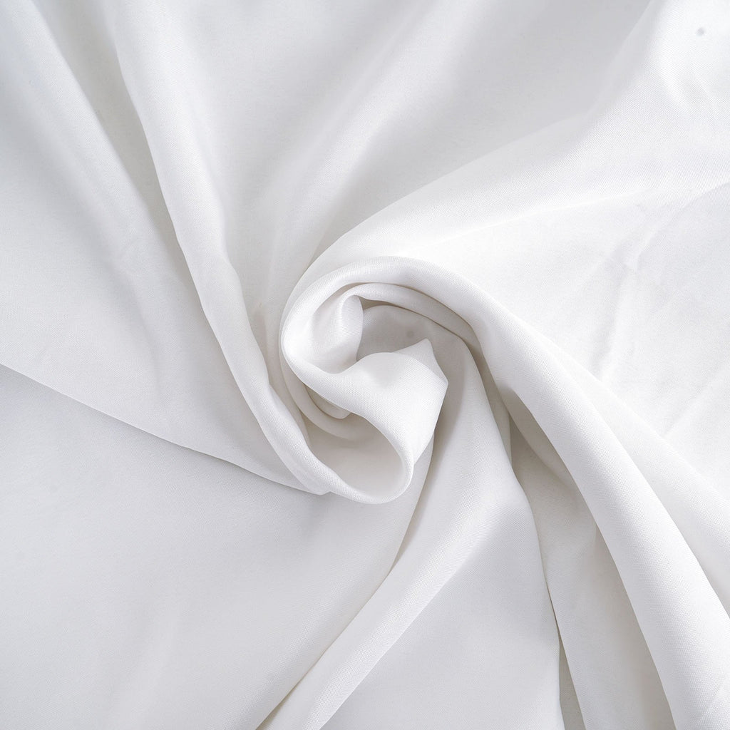 "WHITE Polyester Wedding Banquet Restaurant Wholesale Fabric Bolt By Yard - 54"" x 10 YARDS"