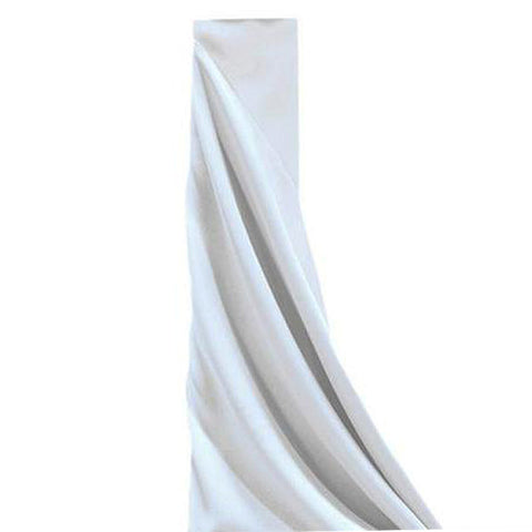 "WHITE Polyester Wedding Banquet Restaurant Wholesale Fabric Bolt - 54"" x 10 YARDS      (Sold Out Until 2017-07-05)"