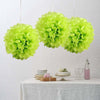"6 Pack 14"" Apple Green Paper Tissue Fluffy Pom Pom Flower Balls"