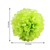 "12 Pack 16"" Apple Green Paper Tissue Fluffy Pom Pom Flower Balls"