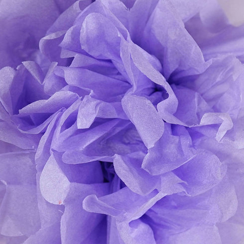 12 PCS Paper Tissue Wedding Party Festival Flower Pom Pom Lavender 8 inch